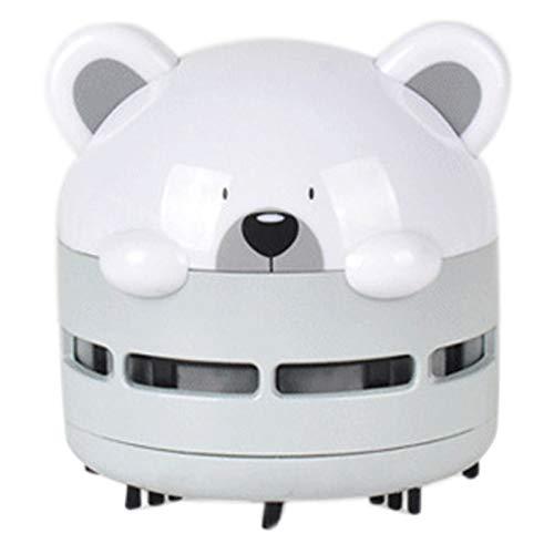 Kaxofang Aspiradora PortáTil para Coche Escritorio USB Recargable Mini Aspiradora PortáTil Limpiador de Teclado Creativo (Gris)
