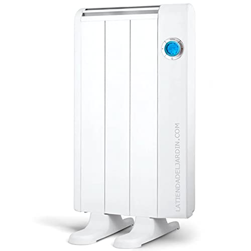Suinga Emisor térmico 3 elementos sin aceite. Potencia 500 W. Cuerpo en aluminio. Crono termostato digital. Pantalla LCD.