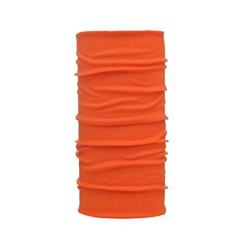 My Berg Multifunktionstuch Bandana Schlauchschal Motorrad Fahrrad Halstuch Kopftuch Gesichtsmaske Mundschutz Damen Herrn Stirnband Orange