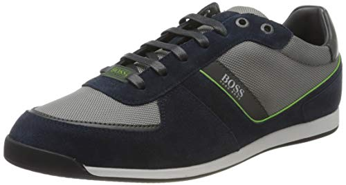 BOSS Herren Glaze_Lowp_mx Sneaker, Open Blue463, 43 EU, 9 UK
