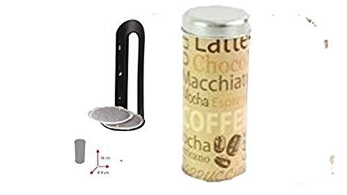 James Premium Metalldose Dose Kaffeedose Coffee Pads rund Ø ca. 8x18 cm Metalldosen Kaffee Dosen Aktion MIT PADLIFTER