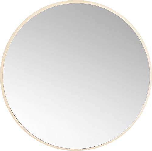 Kare Design Jetset Spiegel, Ø73 cm, runder Wandspiegel, Bad Spiegel, Schminkspiegel, Gold (H/B/T) 73x73x3, 4cm