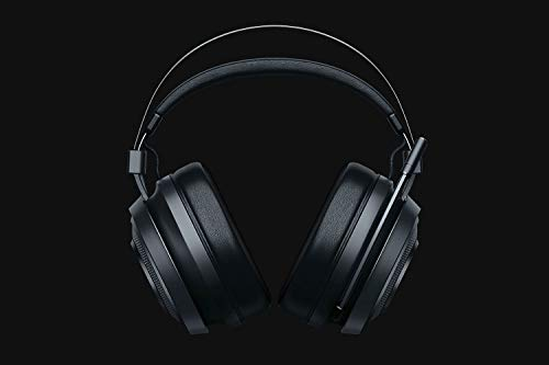 Razer Nari Essential - Cuffie da gioco wireless (cuffie wireless, cuscinetti auricolari con gel freddo, audio spaziale THX e illuminazione RGB Chroma per PC, PS4 e interruttore) nero