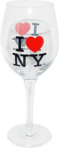 I Love New York Collection of Drinkware (Wine Glass)
