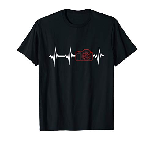 Spiegelreflexkamera Herzschlag Fotografie & Foto T-Shirt
