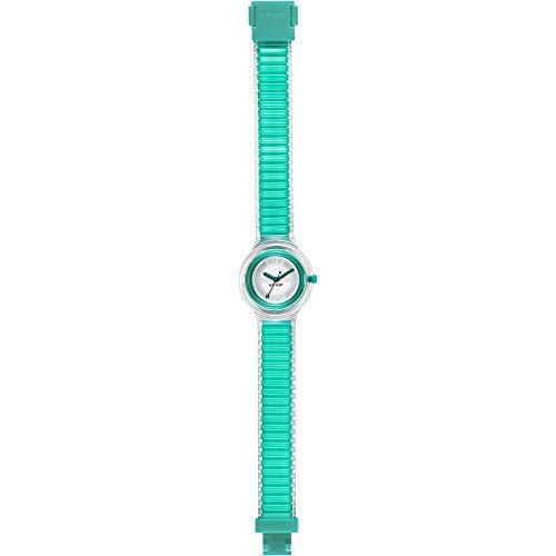 Orologio HIP HOP donna SHEER COLORS quadrante bianco e cinturino in poliuretano verde, movimento SOLO TEMPO - 3H QUARZO
