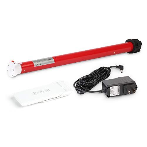 Kit de motor tubular inalámbrico recargable con control remoto para persianas enrollables...