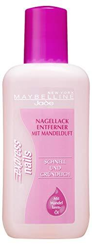 Maybelline Jade Nagellackentferner mit Aceton, Pflegend, Express Nails, 125 ml