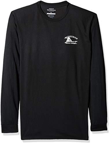 Quiksilver Men's Lauderdale Long Sleeve TEE Shirt, Black, S