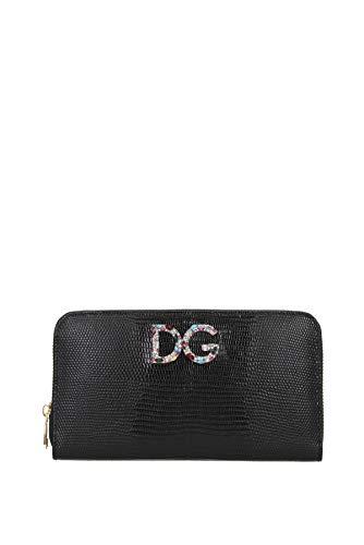 Dolce&Gabbana portafoglio portamonete donna in pelle bifold nero