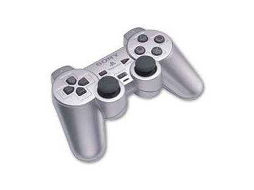 Manette PS2 Dual Shock Silver