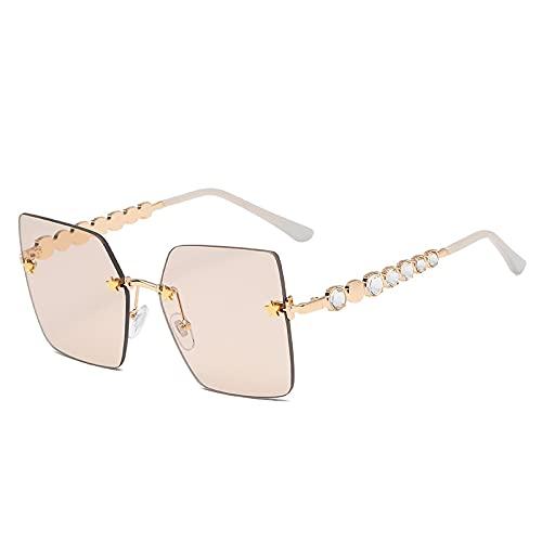 Fasion Sunglasses Occhiali da Sole Occhiali da Sole Quadrati Senza Montatura con Diamanti Occhiali da Sole retrò con STR