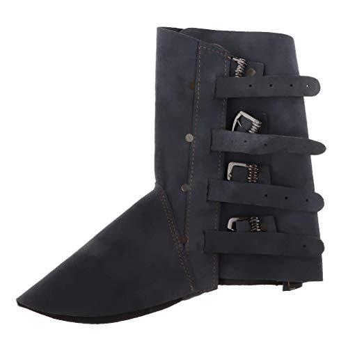 Tubayia Hitzebeständig Schweißschuhe Schweißer Schutzschuhe Arbeitsschuhe Schuhe Abdeckung (Blau)