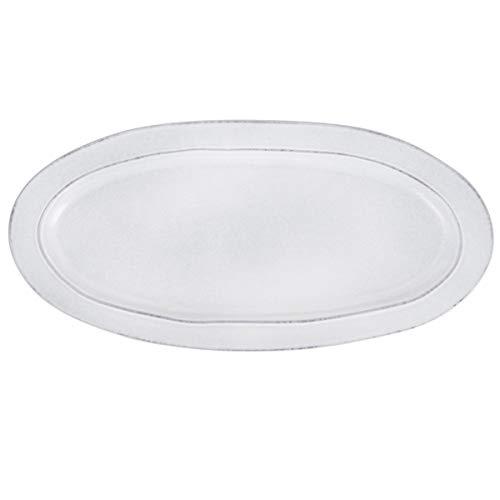 IB Laursen - Grey Dunes - Servierplatte, Platte, Beilageplatte - Steingut - Maße (LxBxH): 37,5 x 18 x 3 cm
