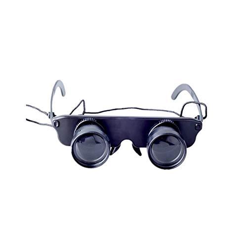 PROKTH Gafas de prismáticos de Pesca, telescopio portátil de Manos Libres HD montado en la Cabeza para catalejo al Aire Libre Pesca Caza Turismo Conciertos Juegos de fútbol