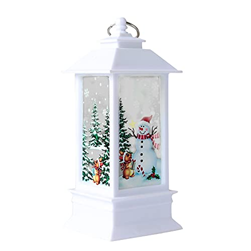 sfdeggtb 1PC Outdoor Candle Lantern Decorative with LED Light Christmas Candle LED Tea Light for Christmas Decoration Tabletop Lanterns Decorative Home Hanging Lanterns Battery Powered (A)