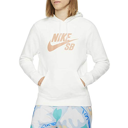 Nike Herren M NK SB ICON Hoodie PO ESSNL Sweatshirt, Summit White/Rose Gold, M