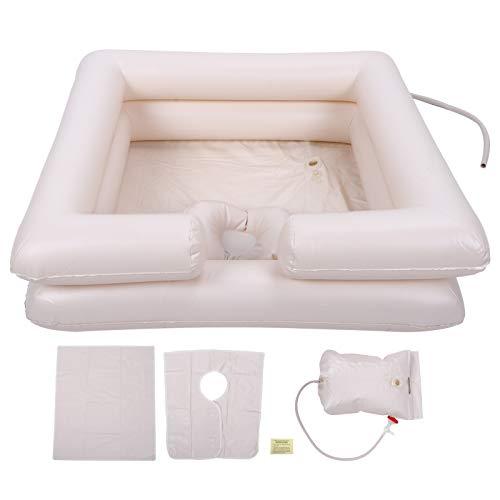 zhoul - Kit de lavabo de champú inflable portátil de PVC, kit de lavabo plegable para lavar el cabello para ancianos discapacitados y embarazadas