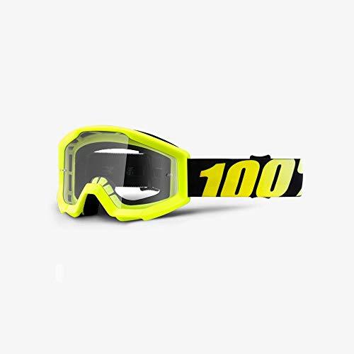 100% STRATA JR Brille Neon - klar Linse, Gelb , Größe One Size