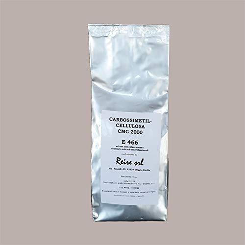 LUCGEL Srl 1 Kg Carbossimetilcellulosa E466 Addensante Emulsionante Gelificante Alimentare Pasticceria destinato solo ad USI PROFESSIONALI