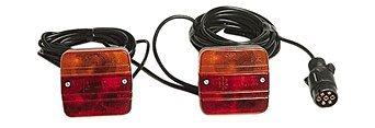 12V Beleuchtungssatz 6,5m + 2,5m Beleuchtung Magnet Anhänger Trailer Rückleuchte