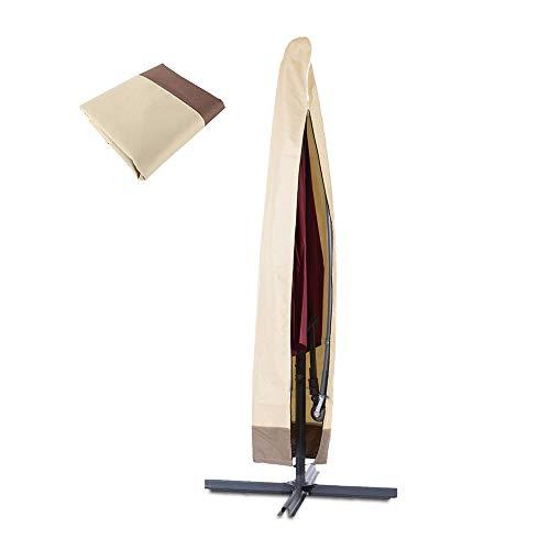 Sonnenschirm Schutzhülle Sonnenschirm Abdeckung mit Reißverschluss wasserdichte, Winddichte,UV-Beständiges, Schwerlast Reißfest 600D Oxford Gewebe Outdoor Ampelschirm Abdeckhauben