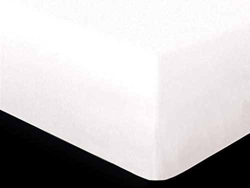 Soleil d'ocre Protège Matelas, Polycoton, Blanc, 140 x 200 cm