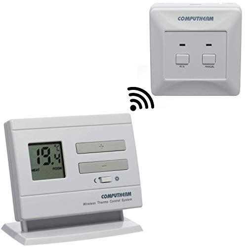 COMPUTHERM Q3RF digitaler Funk-Raumthermostat, Thermostat für Heizung, Klimaanlagen & Fußbodenheizung, kabelloser mobiler Raum-Temperaturregler & -messer mit Empfänger