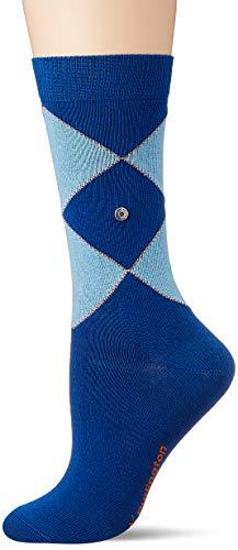 Burlington Damen Argyle Organic W SO Socken, blau (Petrol Blue 6493), Einheitsgröße (DE 36-41)
