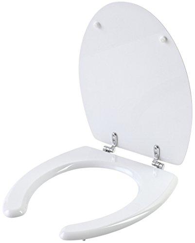 FERIDRAS Comfort Abattant WC Universel pour Personnes handicapées, Bois, Blanc, 6 x 39 x 47 cm