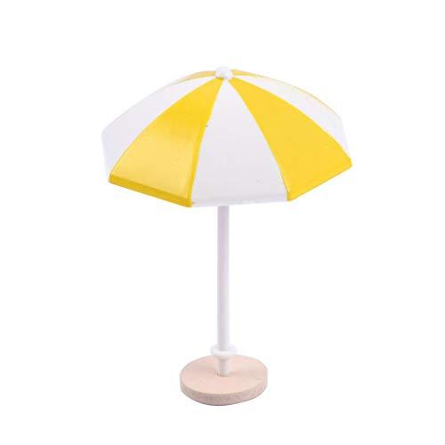 Mini Sonnenschirm, Puppenhaus Garten Möbel - Gelb, L