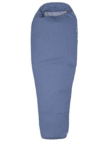 Marmot Nanowave 55 Long Mumienschlafsack Extra Lang, Ultra Leichter Sommer Schlafsack, Ideal Zum Camping Und Trekking, Steel Onyx, 198 cm