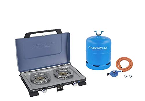 Campingaz Series 400 S Double Burner + Free Hose & Regulator Kit and