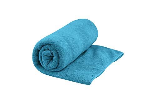 Sea to Summit Erwachsene TEK Towel L, Frottee-Mikrofaserhandtuch, Pacific-blau, Aufhängeschlaufe, Druckknopf, Netzbeutel Handtücher, Mehrfarbig, One Size
