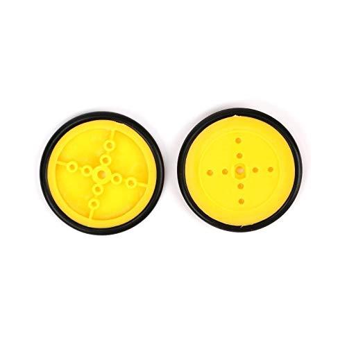 L-Yune,bolt Neumáticos 10PCS Pequeño Coche Smart Amarillo neumático de la Rueda del...