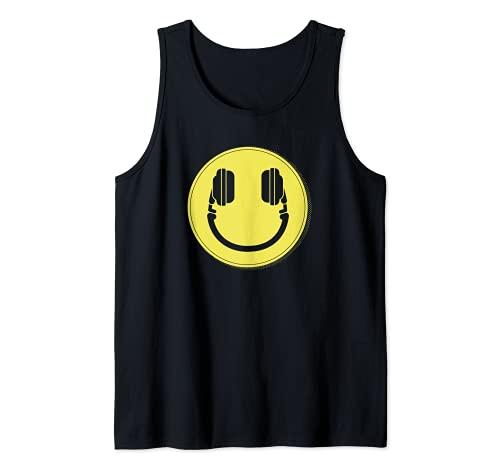 Disc Jockey Face DJ Music Camiseta sin Mangas