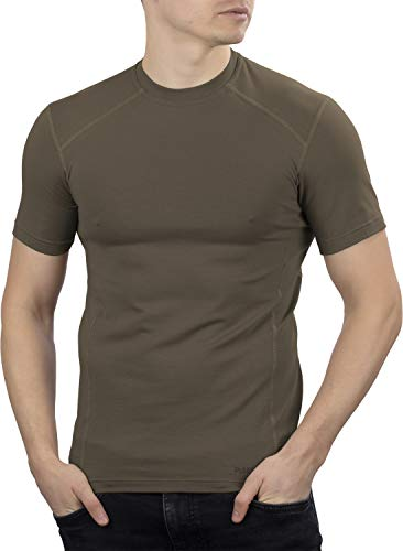 281Z Military Stretch Cotton Underwear T-Shirt - Tactical Hiking Outdoor - Punisher Combat Line (Olive Drab, Large)