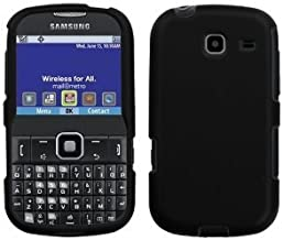 LF 3 in 1 Hard Case Cover, Stylus & Droid Screen Wiper Bundle Accessory For Tracfone Straight Talk Prepaid Cell Phone Samsung S380C (Black)