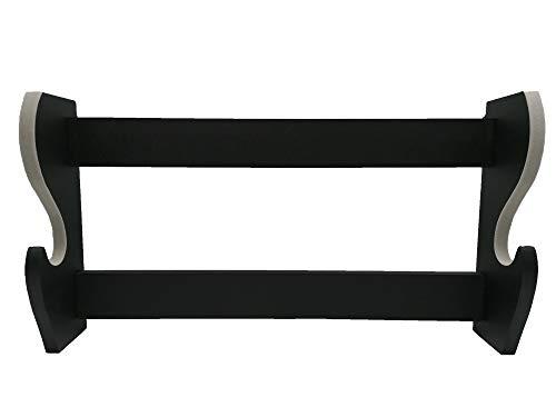 Glac Store Soporte expositor de pie de pared para Katana Ultimo Samurai Tipo Kill Bill de madera 1 plaza con bordes en gris claro