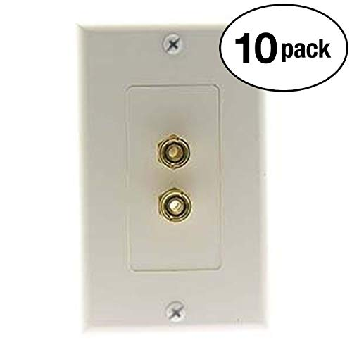 InstallerParts (10 Pack Banana Binding Post Decora Wall Plate White
