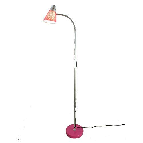 Dapo Lese-Steh-Stand-Leuchte-Lampe Lisa pink-Silber praktisch verstellbar mit Flexarm, für Energiespar Leuchtmittel geeignet, E27 max. 40 W