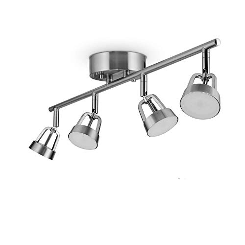 Globe Electric Globe Smart Collection 59429 Wi-Fi Track Light, Brushed Nickel, No Hub Required, 28W, Multicolor, 2000K-5000K, 1600 lm, 80 CRI, Silver