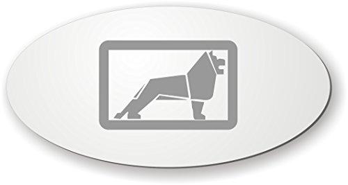 Schilderfeuerwehr Spiegel mit Logo - Aufkleber