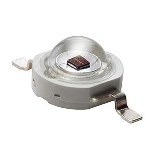 3W Componente LED de Alta Potencia, Rojo Brillante 630nm Diodo Emisor de Luz para Placas de Circuito Impreso PCB, Iluminación del Acuario, Crecen luces y proyectos electrónicos, 5 x LEDs