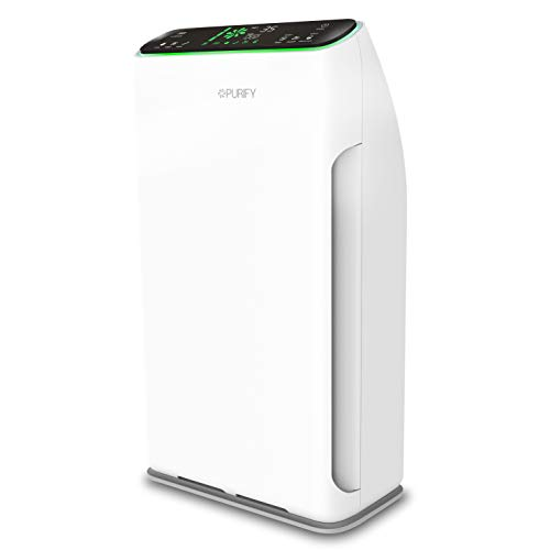 Purificatore d'aria Purify F320, Protezione 7in1, Fino a 80m², Cadr 318 m³/h, PM 2.5 99.9%, Rumore 29.4 dBA, Efficienza Filtrazione Batterica 98.5%, App Tuya, Contr. Vocale (Google, Alexa),Telecomando