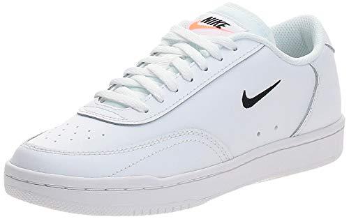 Nike Wmns Court Vintage, Zapatillas de Gimnasio Mujer, White/Black-Total Orange, 39 EU