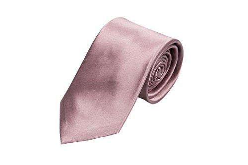 Notch Krawatte aus Seide für Herren - Einfarbig Mauve oder blasses Rosa