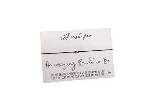 Dios Designs Wish Bracelet - A Wish for Amazing Bride to Be - Choice of White Card, Kraft Card, Wood, Rose Gold Foil or Gold Foil DD1019 (White Card)