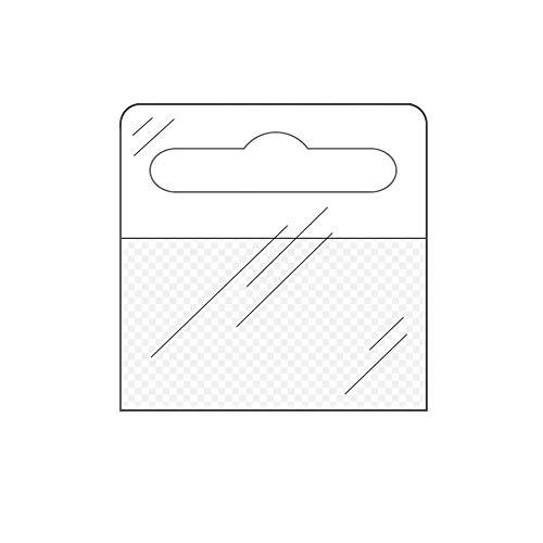 Eurolochaufhänger 50 mm x 50 mm | Einseitig selbstklebend | Flexibel, transparent, abgerundete Ecken | Menge wählbar / 100 Stück
