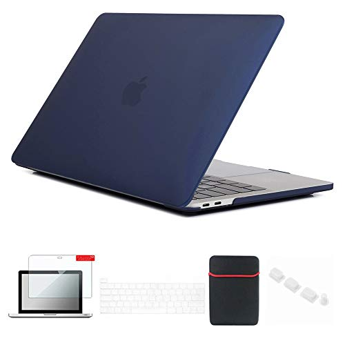 Se7enline MacBook Pro 13 inch Case 2020/2019/2018/2017/2016 Laptop Cover for MacBook Pro 13-inch Model A2251/A2289/A1706/A1989/A2159 with Sleeve, Keyboard Cover, Screen Protector, Dust Plug, Navy Blue
